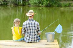 Summer fishing Stock Photography