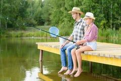 Summer fishing Stock Photography