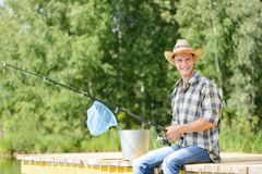 Summer fishing Royalty Free Stock Photo