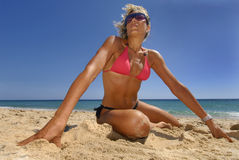 Summer fitness Royalty Free Stock Image