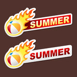 Summer flame sticker banner label tag vector Stock Image