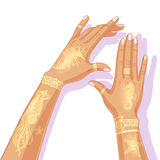 Summer Flash Tattoo Design. Royalty Free Stock Images