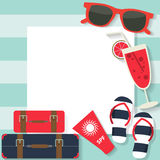 Summer flat background Stock Photo