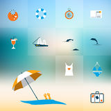 Summer flat icon concept. Royalty Free Stock Photo