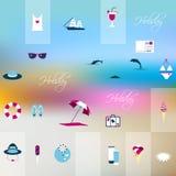 Summer flat icon concept. Stock Photo