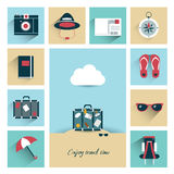 Summer flat icon concept. Royalty Free Stock Images