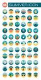 Summer flat icon Stock Photos