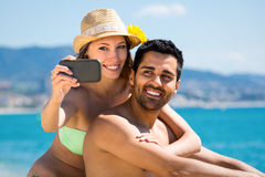 Summer fling self photograph Royalty Free Stock Images