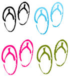 Summer flip flop collection Royalty Free Stock Photography