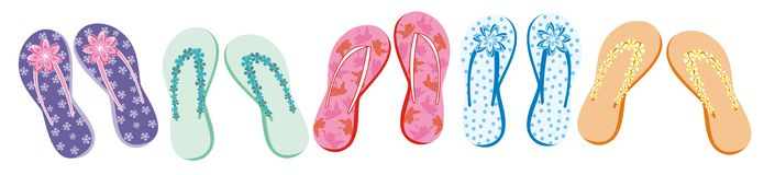 Summer flip flop collection Stock Image