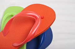Summer Flip Flop Sandals Stock Image