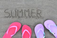 Free Summer Flip Flops Stock Photography - 25562292