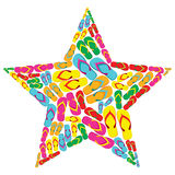 Summer flip flops in star shape Stock Image