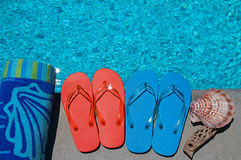 Summer Flipflops Stock Photo
