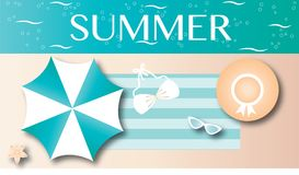 Summer flipflops vacation beach header or banner Stock Photography