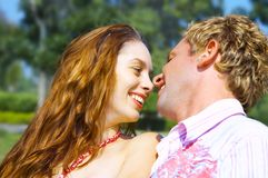 Summer flirting Royalty Free Stock Photos