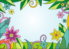 Summer floral bacground. This is a vector image - you can edit colors and shapes royalty free illustration