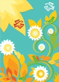 Summer floral backdrop Stock Photography
