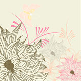 Summer floral background. Universal template for greeting card, web page, background Stock Photos