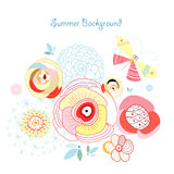Summer floral background Royalty Free Stock Images