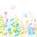 Summer floral background stock illustration