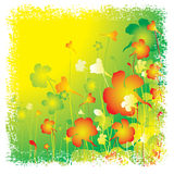 Summer floral background. Summer grunge floral background. Vector Royalty Free Stock Photos
