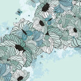 Summer Floral Background. With Butterflies Stock Image