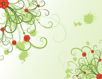 Summer floral design. With poppies Stock Illustration