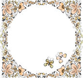Summer floral frame Royalty Free Stock Photos