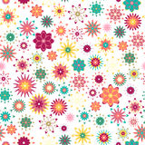 Summer floral garden seamless pattern Stock Images