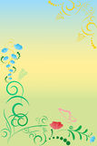 Summer floral pattern Stock Photos