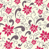 Summer floral pattern. Stylish colored seamless summer floral pattern in Royalty Free Stock Images