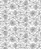 Summer floral pattern with clover on white background Royalty Free Stock Image