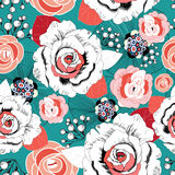 Summer floral pattern Royalty Free Stock Photography