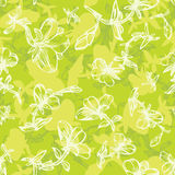 Summer floral pattern in green Stock Image