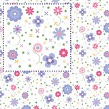 Summer floral pattern - Illustration Stock Photography