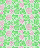 Summer floral pattern with red clover Royalty Free Stock Photography