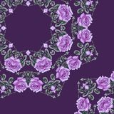Summer floral pattern (roses). Stock Photography