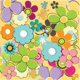 Summer floral seamless pattern. Illustration background Royalty Free Stock Photos