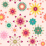 Summer floral seamless pattern Stock Image