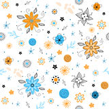 Summer floral seamless pattern Stock Photography