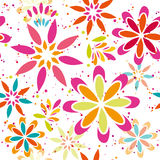 Summer floral seamless vector patter Royalty Free Stock Photos