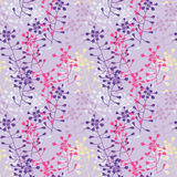 Summer floral seamless vector pattern Royalty Free Stock Image