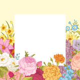 Summer floral vintage vector background. Stock Photography