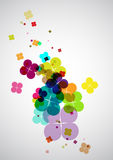 Summer flower. Abstract composition from colored flowers stock illustration