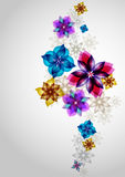Summer flower. Background  with colorful stylized flowers Royalty Free Stock Photography