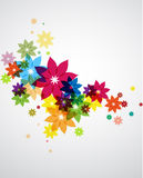 Summer flower. Background with colorful stylized flowers stock illustration