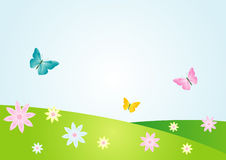Summer flower bacground. This is a vector image - you can edit colors and shapes vector illustration