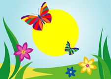 Summer flower bacground. This is a vector image - you can edit colors and shapes stock illustration