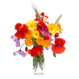 Summer flower bouquet , white background. Summer flower bouquet,isolated on white Stock Photos